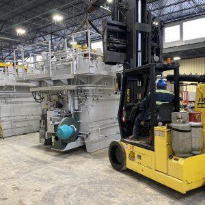 Setting of Furnace utilizing 40/60 Lift